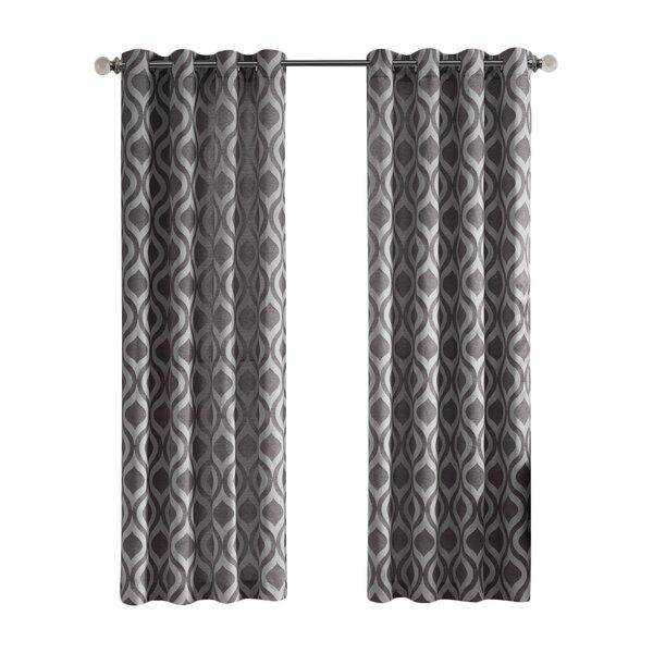 Popular Photo of Linen Button Window Curtains Single Panel