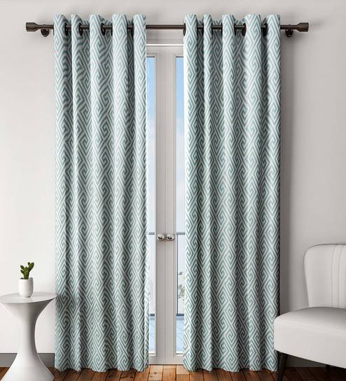 Curtains And Home Decor Inc Pertaining To Primebeau Geometric Pattern Blackout Curtain Pairs (#8 of 38)