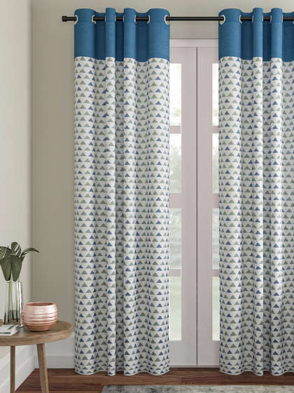 Curtains – Buy Window Curtains & Door Curtains Online | Myntra Intended For Double Layer Sheer White Single Curtain Panels (View 16 of 50)