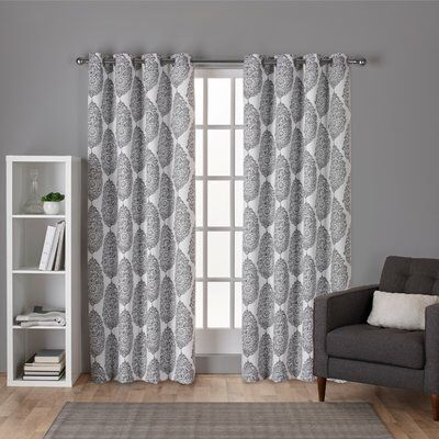 Curtains & Drapes Regarding The Curated Nomad Duane Jacquard Grommet Top Curtain Panel Pairs (#8 of 50)