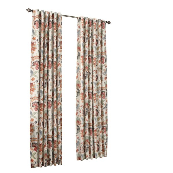 Curtains & Drapes Throughout Ikat Blue Printed Cotton Curtain Panels (#14 of 50)