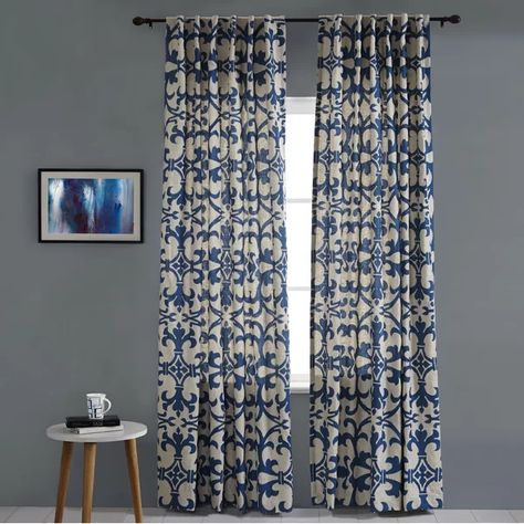 Curtains & Drapes Within Lambrequin Boho Paisley Cotton Curtain Panels (#9 of 41)