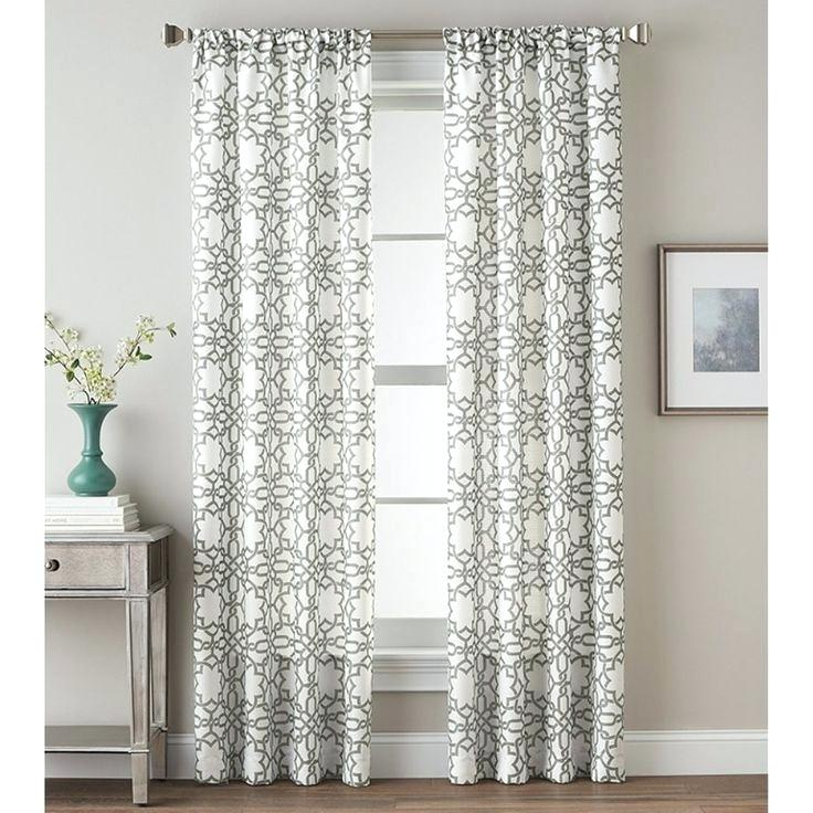 Curtains Grey White Single Bedroom Print This And Curtain With Ink Ivy Ankara Cotton Printed Single Curtain Panels (View 32 of 50)