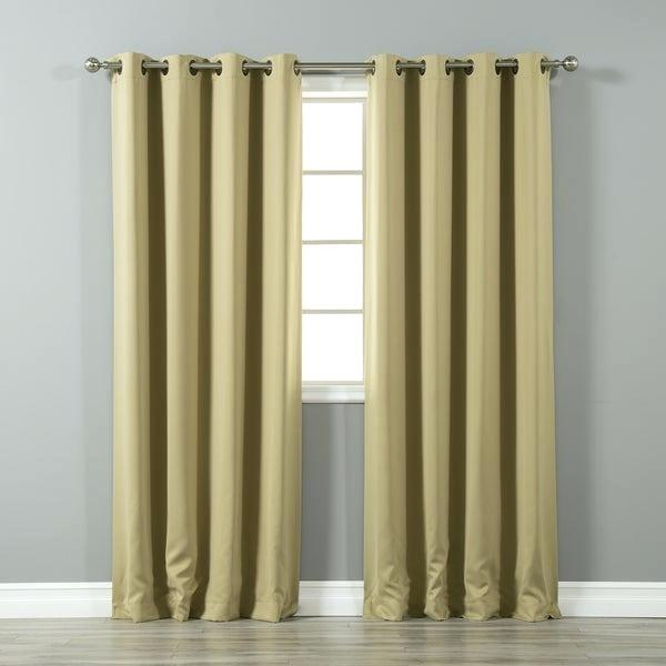 Curtains Grommets Walmart Sheer With Grommet Curtain Pair With Regard To Thermal Insulated Blackout Grommet Top Curtain Panel Pairs (#20 of 50)