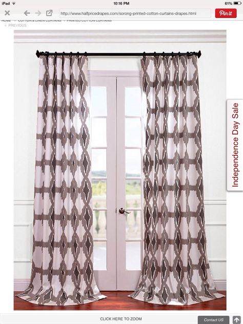 Curtains | Living Room | Cotton Curtains, Printed Curtains Intended For Sarong Grey Printed Cotton Pole Pocket Single Curtain Panels (#16 of 50)