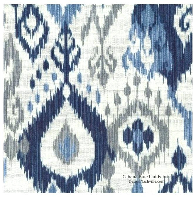Curtains Navy Blue Printed Decorating Fabric Ikat Material Regarding Ikat Blue Printed Cotton Curtain Panels (#16 of 50)