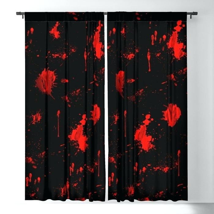 Curtains Red Inside Heritage Plush Velvet Single Curtain Panels (View 13 of 50)