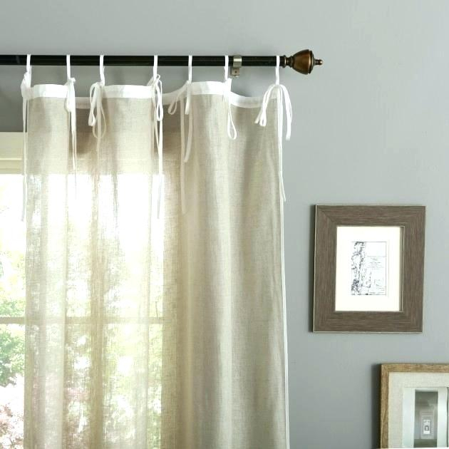 Curtains That Tie At The Top With Elrene Jolie Tie Top Curtain Panels (#7 of 35)