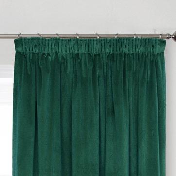 Curtains, Voiles & Blinds | Curtains & Voiles | La Redoute Inside Warm Black Velvet Single Blackout Curtain Panels (#17 of 48)