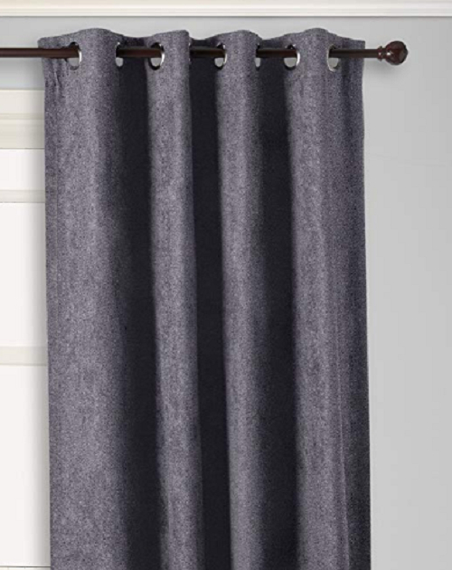 "*curtainworks Cameron Microsuede Grommet Top Curtain Panel 50""wx95""l Pewter Within Lined Grommet Curtain Panels (#2 of 31)"