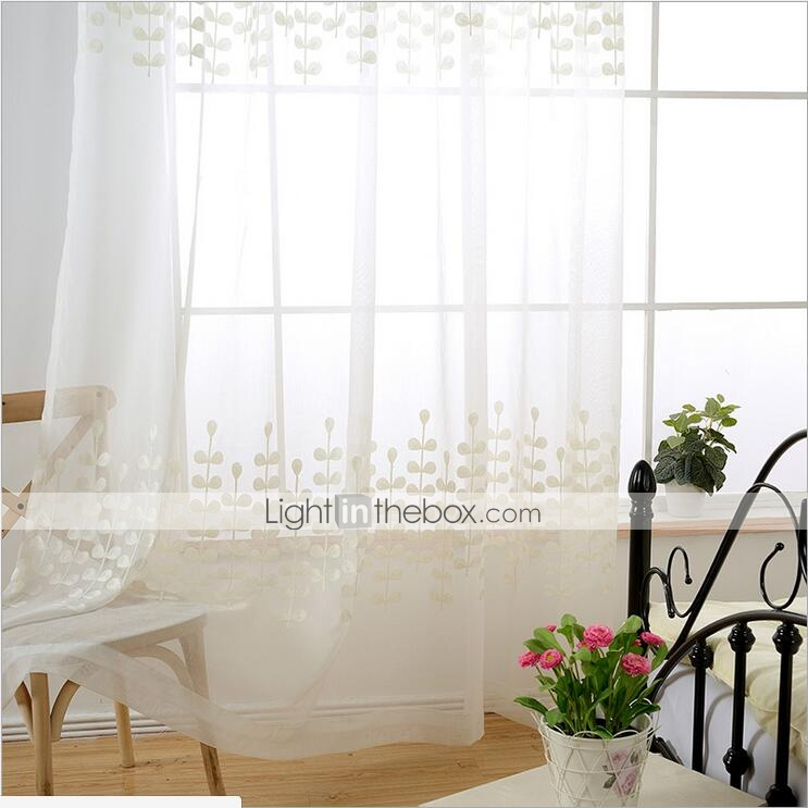Custom Made Kids / Teen Sheer Curtains Shades Two Panels Regarding Kida Embroidered Sheer Curtain Panels (#10 of 50)