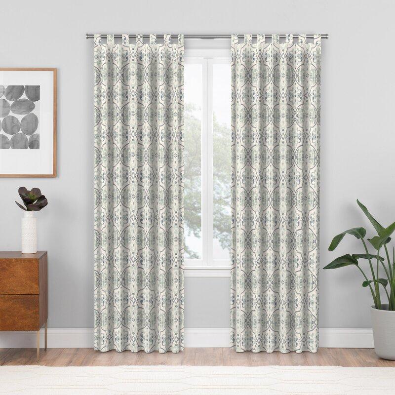 Custom Room Darkening Single Curtain Panel Inside Pastel Damask Printed Room Darkening Grommet Window Curtain Panel Pairs (#15 of 50)