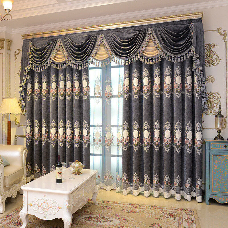 Customized Customized Customized Curtain Luxury Embroidery Regarding Lambrequin Boho Paisley Cotton Curtain Panels (View 14 of 41)