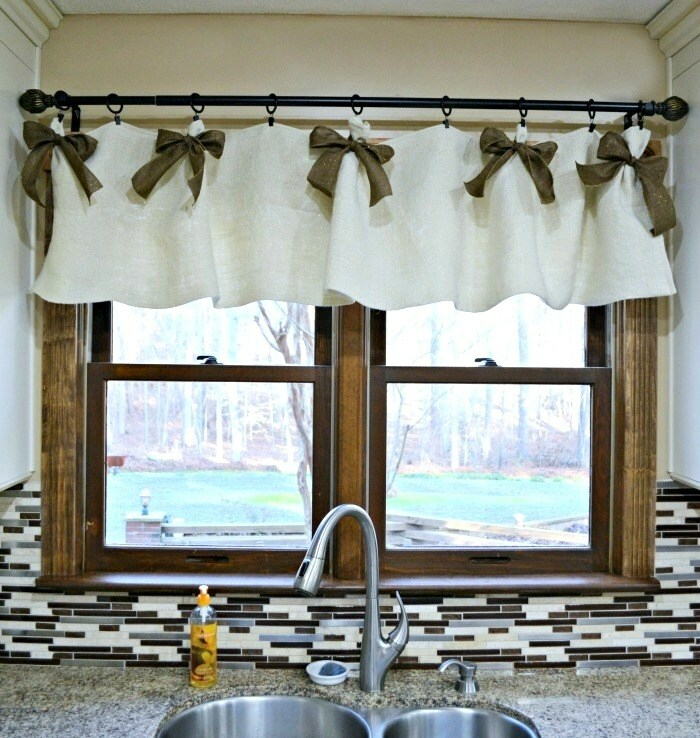 Cute Brown Window Valance – Trinum With Kaylee Solid Crushed Sheer Window Curtain Pairs (#10 of 40)