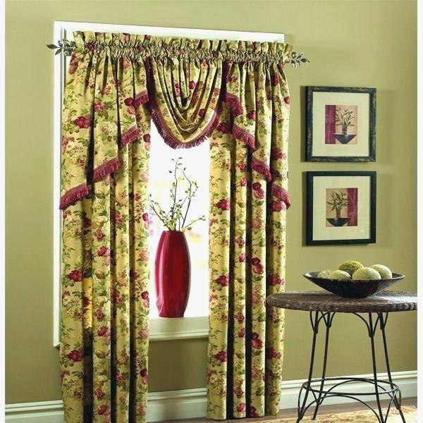 Cute Drapes With Attached Valance – Ernestchemists (View 14 of 50)