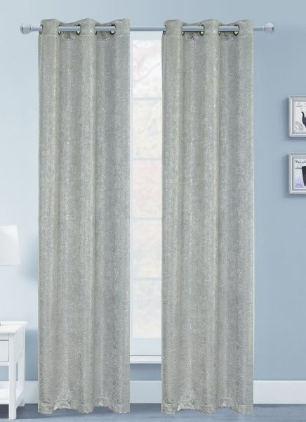 Dainty Home Artistic Foil Printed Blackout Window Panel Pair Regarding Catarina Layered Curtain Panel Pairs With Grommet Top (View 13 of 30)