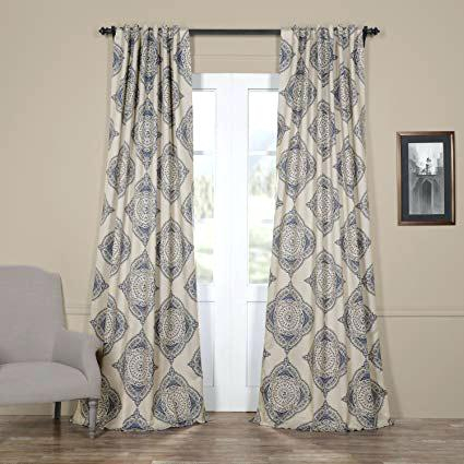 Inspiration about Damask Jacquard Blackout Curtains | Flisol Home In Elrene Mia Jacquard Blackout Curtain Panels (#31 of 37)