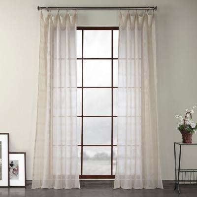Damask – Sheer Curtains – Curtains & Drapes – The Home Depot Regarding Montpellier Striped Linen Sheer Curtains (#15 of 50)