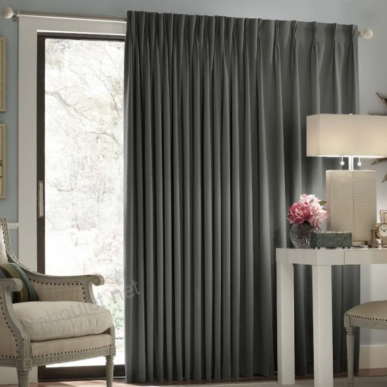 Darby Home Co Ashville Patio Solid Blackout Rod Pocket Inside Kaiden Geometric Room Darkening Window Curtains (#10 of 39)