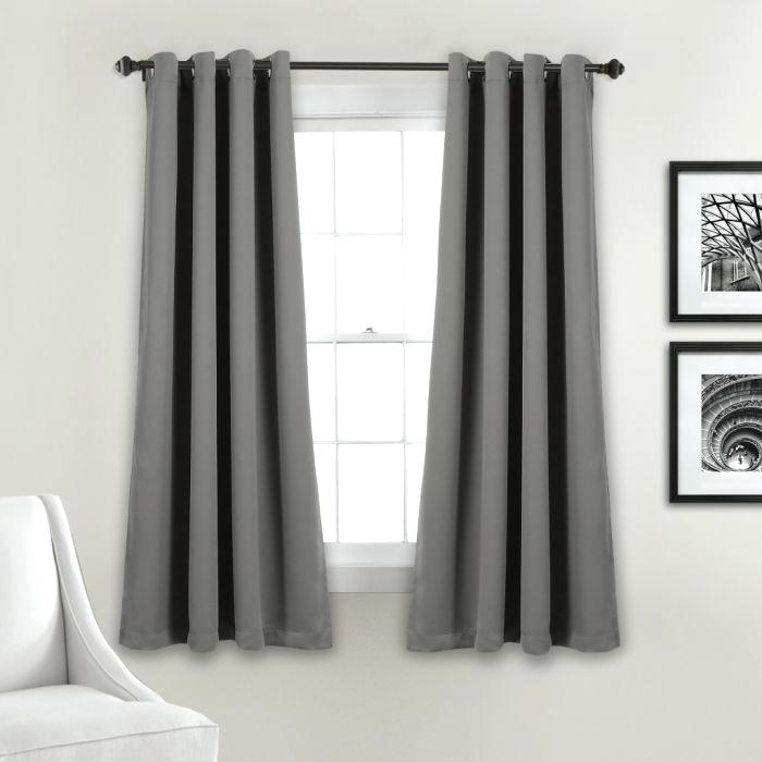 Inspiration about Dark Grey Blackout Curtains – Designmage Intended For Twig Insulated Blackout Curtain Panel Pairs With Grommet Top (#37 of 50)