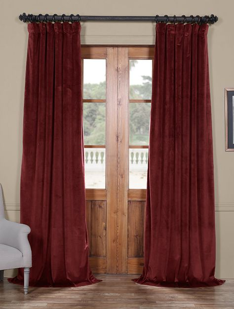 Dark Merlot Heritage Plush Velvet Curtain | Velvet Curtains Inside Heritage Plush Velvet Curtains (View 13 of 50)