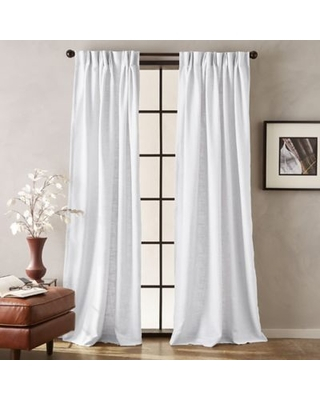 Darkening Window Peri Memphis 95 Inch Pinch Pleat Room Intended For Eclipse Darrell Thermaweave Blackout Window Curtain Panels (#5 of 50)