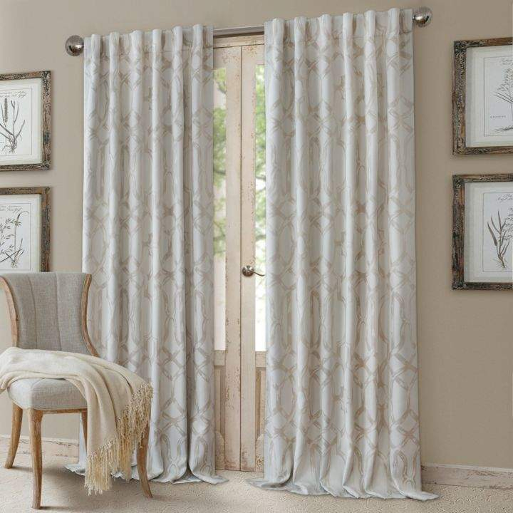 Darla Geometric Blackout Curtain Panel, 52 X 84 | Products In Sunsmart Dahlia Paisley Printed Total Blackout Single Window Curtain Panels (#4 of 45)