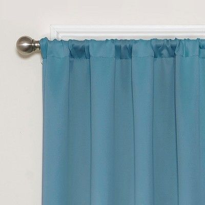 Darrell Thermaweave Blackout Curtain Sky/solid 37X84 For Eclipse Darrell Thermaweave Blackout Window Curtain Panels (View 8 of 50)