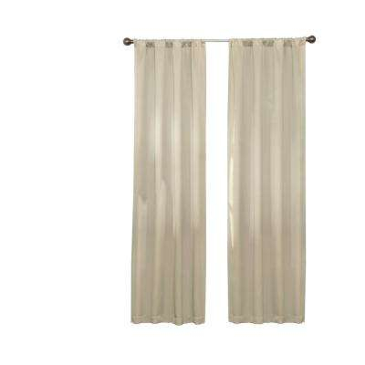 Darrell Thermaweave Blackout Window Curtain Panel In Natural – 37 In. W X  84 In (View 9 of 50)