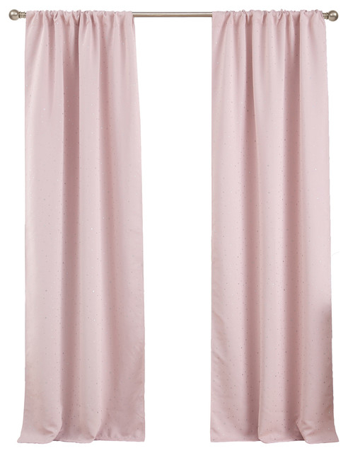 Davis Lala+Bash Blackout Pair Panel, Blush Inside Davis Patio Grommet Top Single Curtain Panels (View 22 of 39)