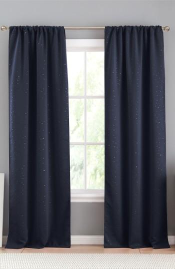 Davis Navy Blackout Window Panels Throughout Davis Patio Grommet Top Single Curtain Panels (View 15 of 39)