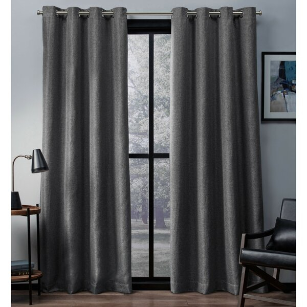 Inspiration about Dayse Solid Max Blackout Thermal Grommet Curtain Panels In Cooper Textured Thermal Insulated Grommet Curtain Panels (#10 of 50)