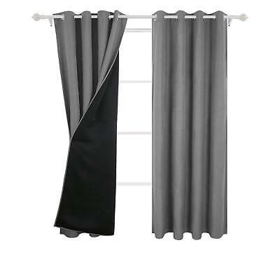 Deconovo Faux Linen Total Blackout Curtains Grommet Top Inside Faux Linen Blackout Curtains (#13 of 50)