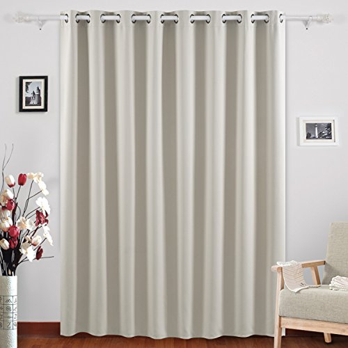 Inspiration about Deconovo Grommet Top Blackout Curtains Wide Curtains Window Throughout Vertical Colorblock Panama Curtains (#35 of 50)