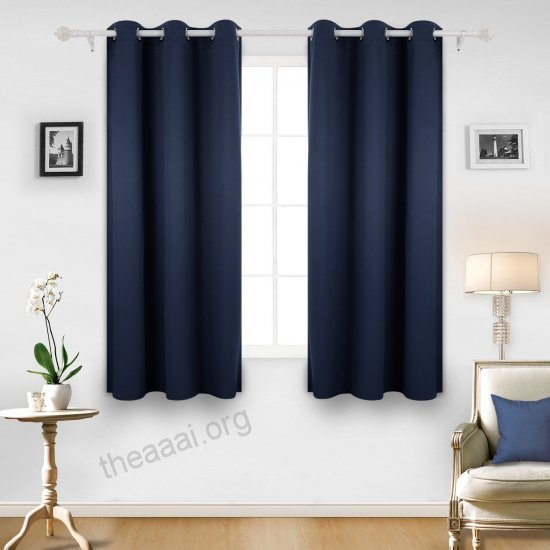Inspiration about Deconovo Room Darkening Thermal Insulated Grommet Blackout Pertaining To Insulated Grommet Blackout Curtain Panel Pairs (#33 of 50)