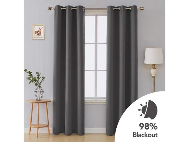 Inspiration about Deconovo Room Darkening Thermal Insulated Grommet Blackout Window Curtains For Living Room Curtain Panels Dark Grey 42X95 Inch 1 Pair – Newegg For Insulated Grommet Blackout Curtain Panel Pairs (#19 of 50)