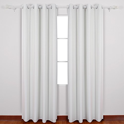Inspiration about Deconovo Soft Textured Thermal Insulated Blackout Curtains Inside Thermal Insulated Blackout Curtain Pairs (#47 of 50)