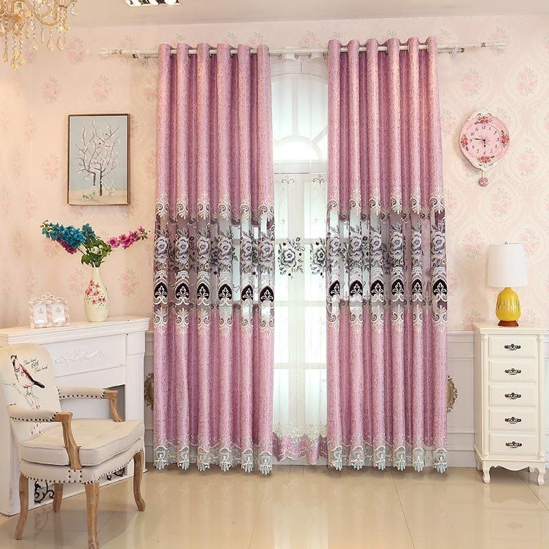 Inspiration about Decoration European Curtain In 2019 | Curtains, Grommet Within Elrene Aurora Kids Room Darkening Layered Sheer Curtains (#11 of 40)