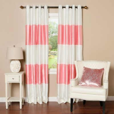 "Decorinnovation Striped 84"" Room Darkening Grommet Top In Ocean Striped Window Curtain Panel Pairs With Grommet Top (#11 of 41)"