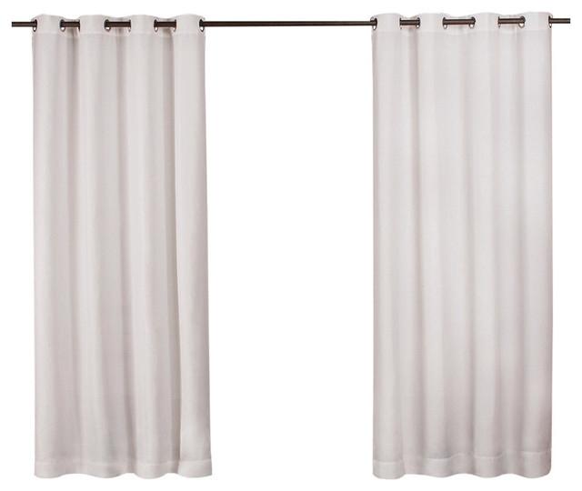 "Delano Indoor/outdoor Heavy Grommet Top Curtains, 54""x84"", White, Set Of 2 Pertaining To Delano Indoor/outdoor Grommet Top Curtain Panel Pairs (View 2 of 45)"