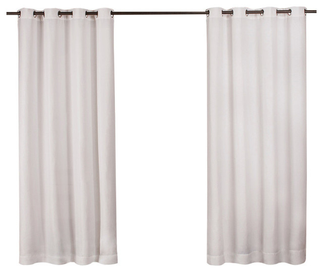 "Delano Indoor/outdoor Heavy Grommet Top Curtains, 54""x84"", White, Set Of 2 Pertaining To Indoor/outdoor Solid Cabana Grommet Top Curtain Panel Pairs (View 4 of 48)"