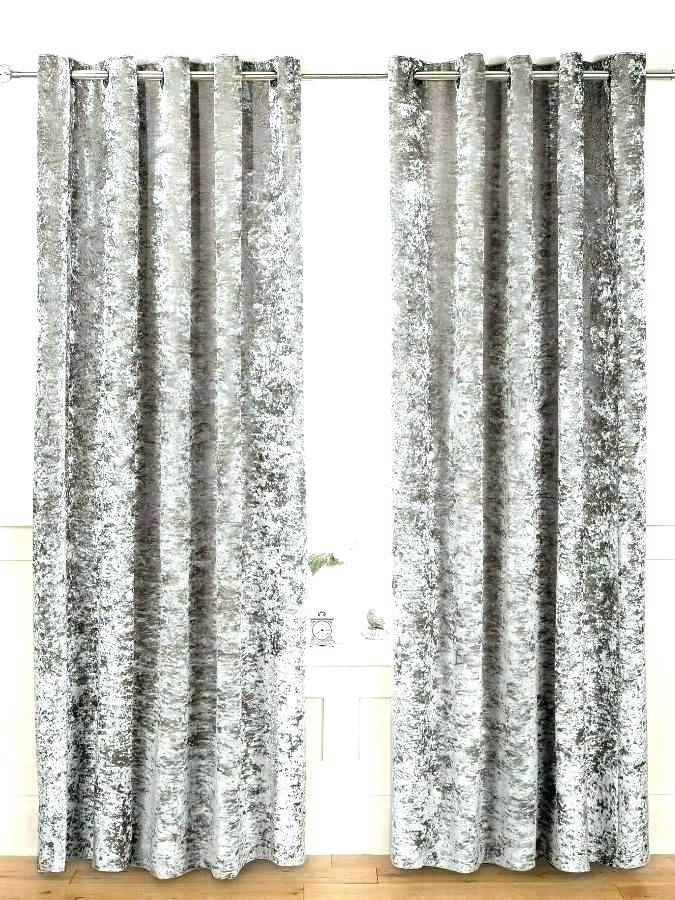 Inspiration about Delectable Grey Velvet Curtains 108 Crushed Drop In Blackout Pertaining To Velvet Heavyweight Grommet Top Curtain Panel Pairs (#24 of 42)