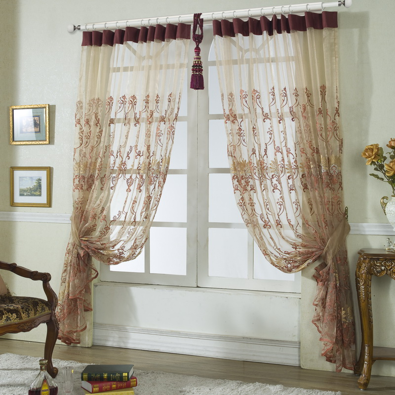 Delicate Embroidery Sheer Curtains Decorative Pertaining To Kida Embroidered Sheer Curtain Panels (View 30 of 50)