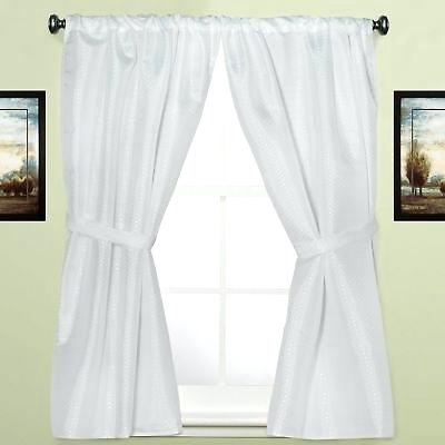 Inspiration about Delightful Fabric Bathroom Window Curtain Panel Pair – Patuscada Pertaining To Ruffle Diamond Curtain Panel Pairs (#49 of 50)