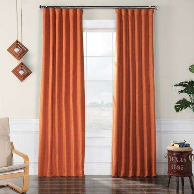 Desert Orange Faux Linen Blackout Room Darkening Curtain – 50 In. W X 96 In (View 22 of 50)