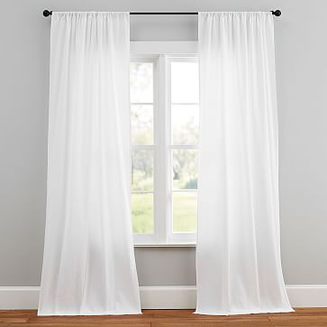 Design Crew Basics Cotton Poletop Drapes (Set Of 2) Within Archaeo Washed Cotton Twist Tab Single Curtain Panels (View 13 of 21)