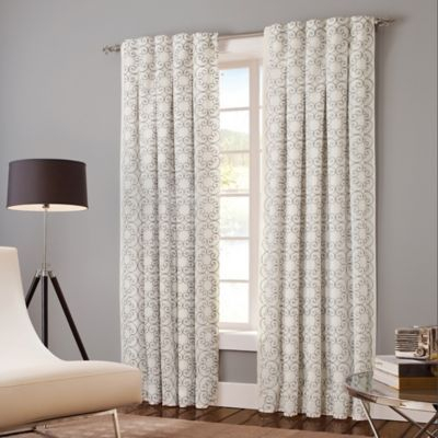 Popular Photo of Sunsmart Dahlia Paisley Printed Total Blackout Single Window Curtain Panels