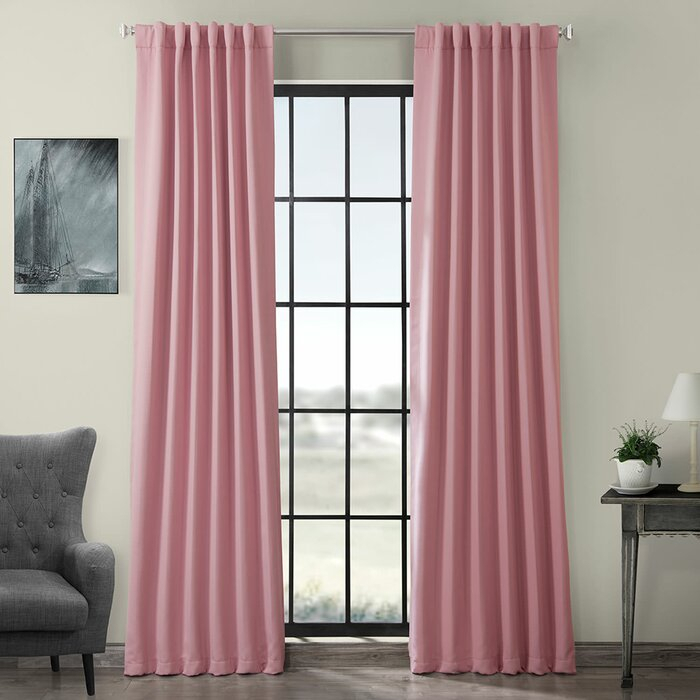 Destinie Indoor Solid Color Blackout Curtain Rod Pocket Panel Pair Pertaining To Thermal Rod Pocket Blackout Curtain Panel Pairs (#19 of 50)