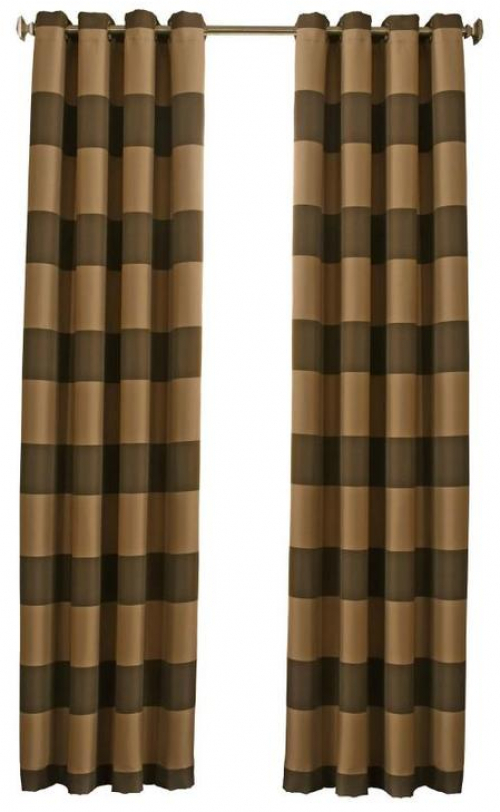 Details About Beautyrest Gaultier 95 In Chocolate Polyester Grommet  Blackout Single Curtain Intended For Hayden Grommet Blackout Single Curtain Panels (View 9 of 39)