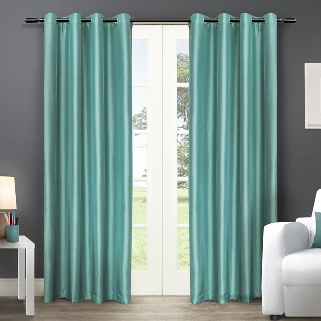 Details About Copper Grove Fulgence Faux Silk Grommet Top Panel Curtains – Inside Copper Grove Fulgence Faux Silk Grommet Top Panel Curtains (View 19 of 50)